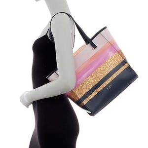 Ted Baker London Glitter Stripe Large Tote